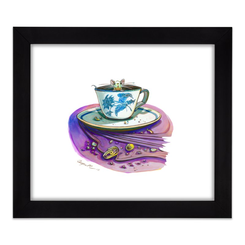 Clock Hater Home Framed Fine Art Print by Cayce Moyer Creations