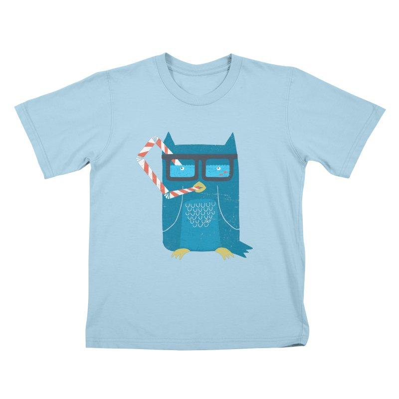 The Owls Glasses Kids T-Shirt by cazking's Artist Shop