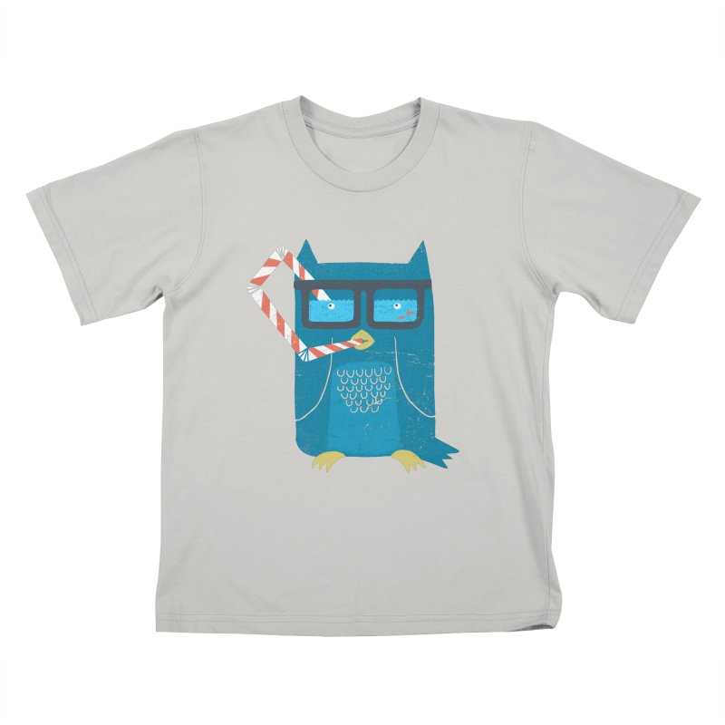 The Owls Glasses Kids T-shirt by cazking's Artist Shop
