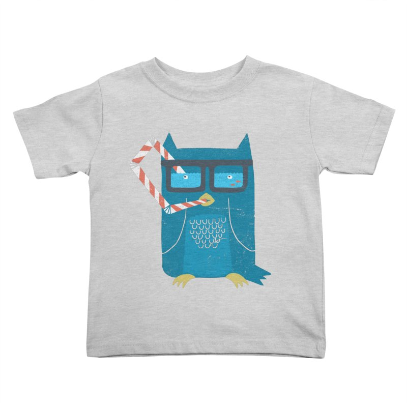 The Owls Glasses Kids Toddler T-Shirt by cazking's Artist Shop