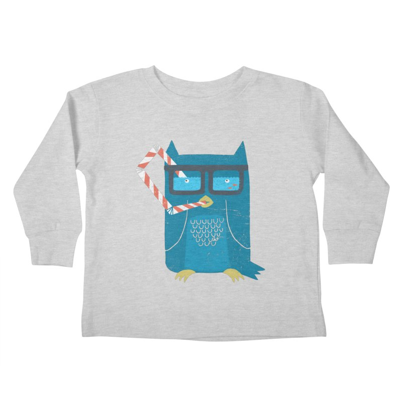 The Owls Glasses Kids Toddler Longsleeve T-Shirt by cazking's Artist Shop