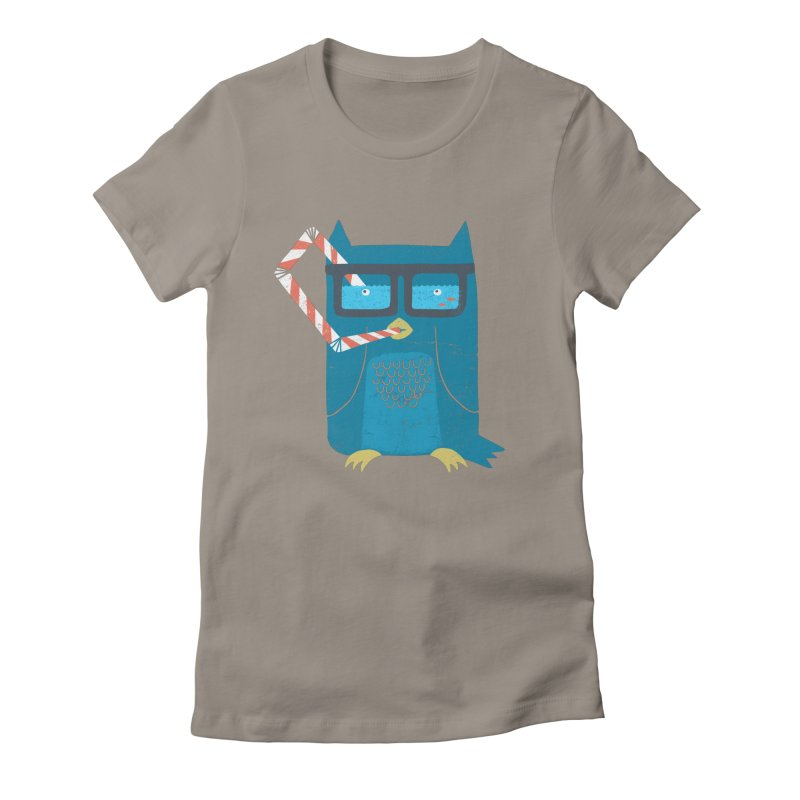 The Owls Glasses Women's Fitted T-Shirt by cazking's Artist Shop