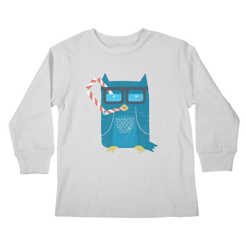 The Owls Glasses Kids Longsleeve T-Shirt by cazking's Artist Shop