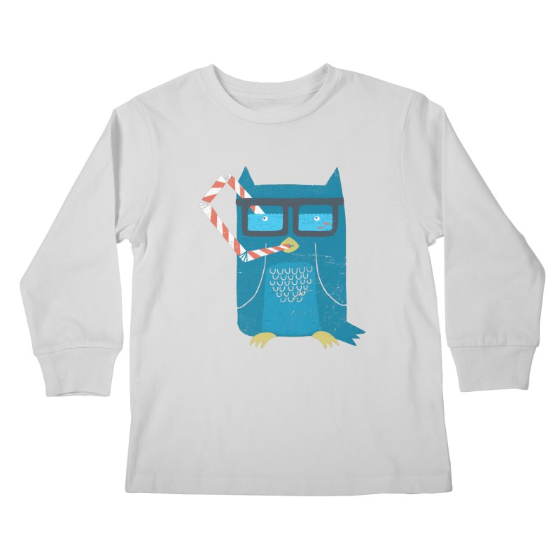 The Owls Glasses Kids Longsleeve T-Shirt by cazking's Artist Shop