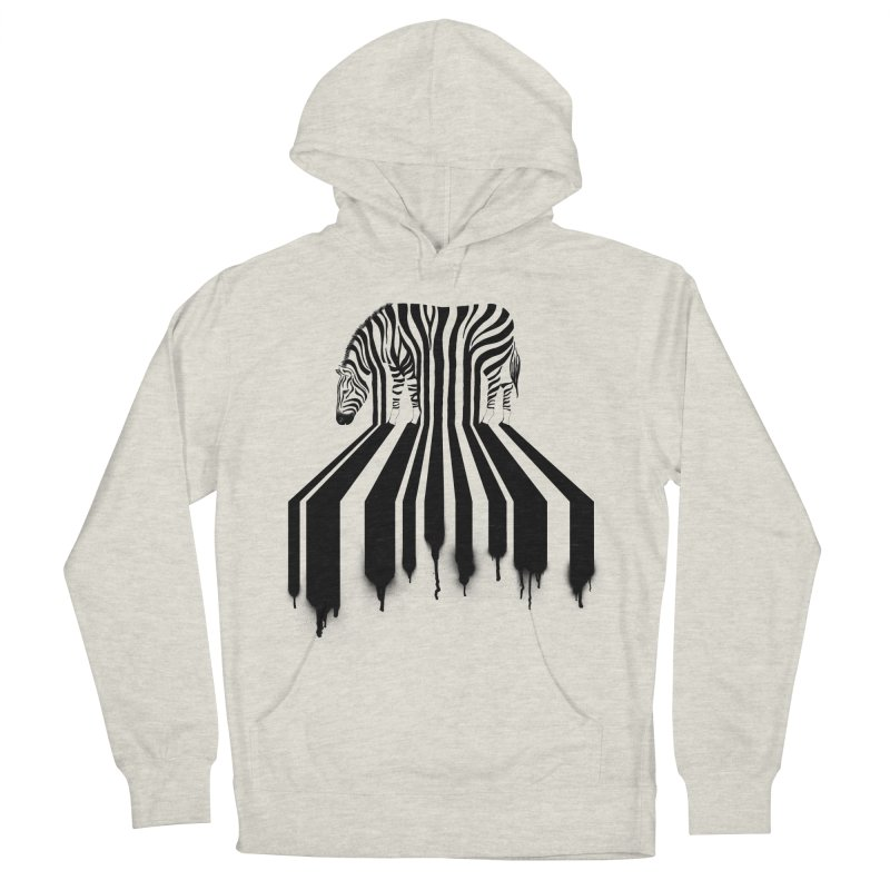 Zebra Crossing Men's French Terry Pullover Hoody by cazking's Artist Shop