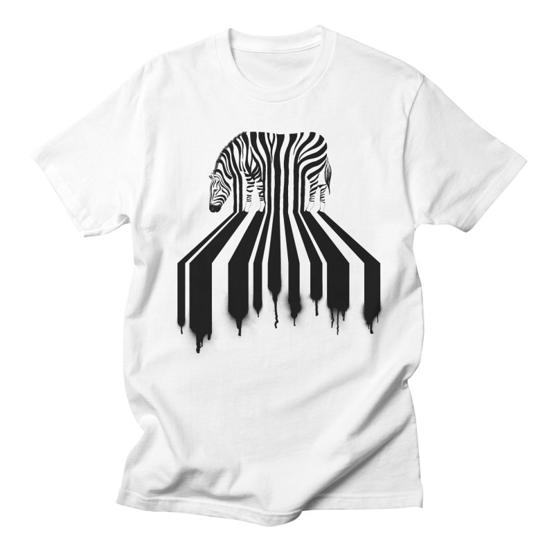 Zebra Crossing Men's T-Shirt by cazking's Artist Shop