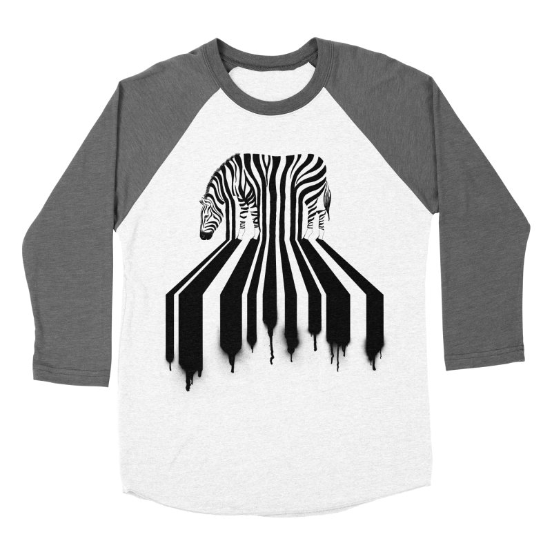 Zebra Crossing Women's Baseball Triblend T-Shirt by cazking's Artist Shop