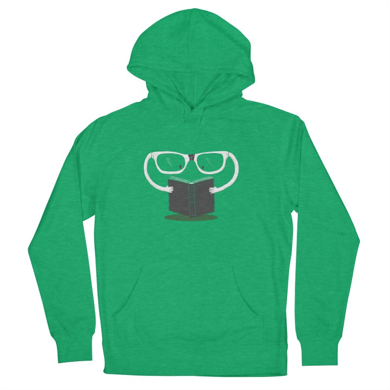 Reading Glasses Women's French Terry Pullover Hoody by cazking's Artist Shop