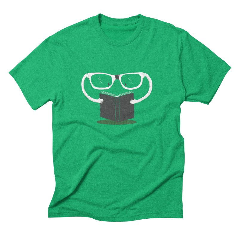 Reading Glasses Men's Triblend T-shirt by cazking's Artist Shop