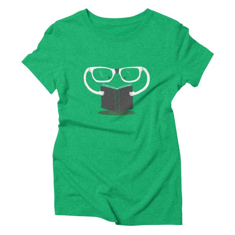 Reading Glasses Women's Triblend T-shirt by cazking's Artist Shop
