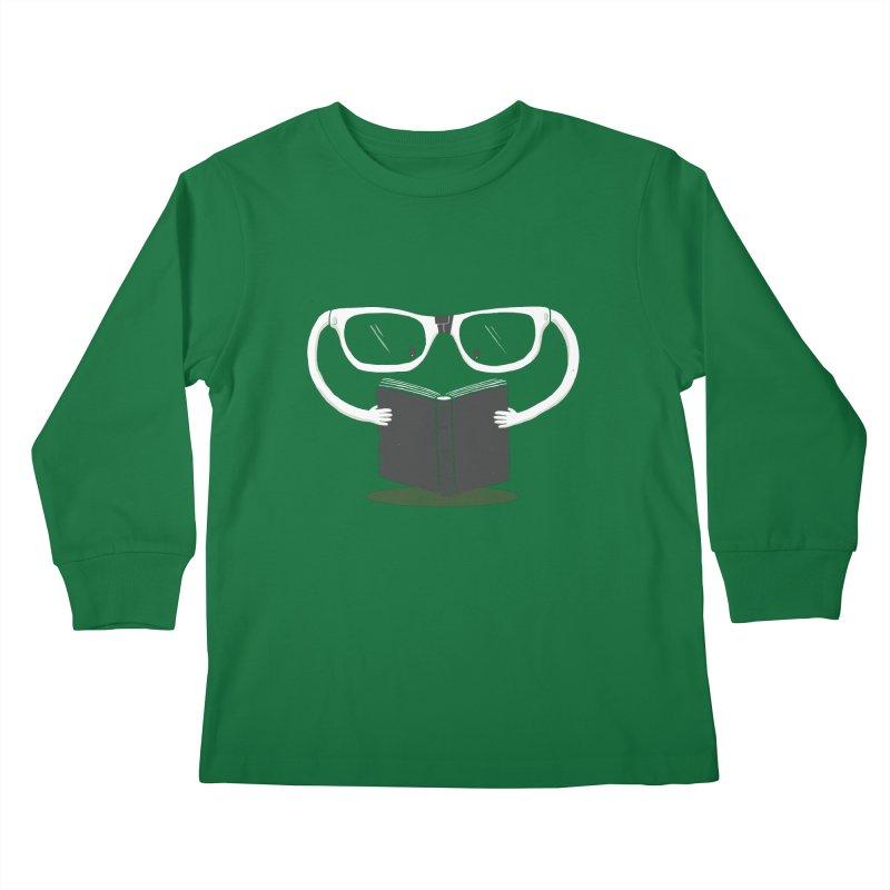 Reading Glasses Kids Longsleeve T-Shirt by cazking's Artist Shop