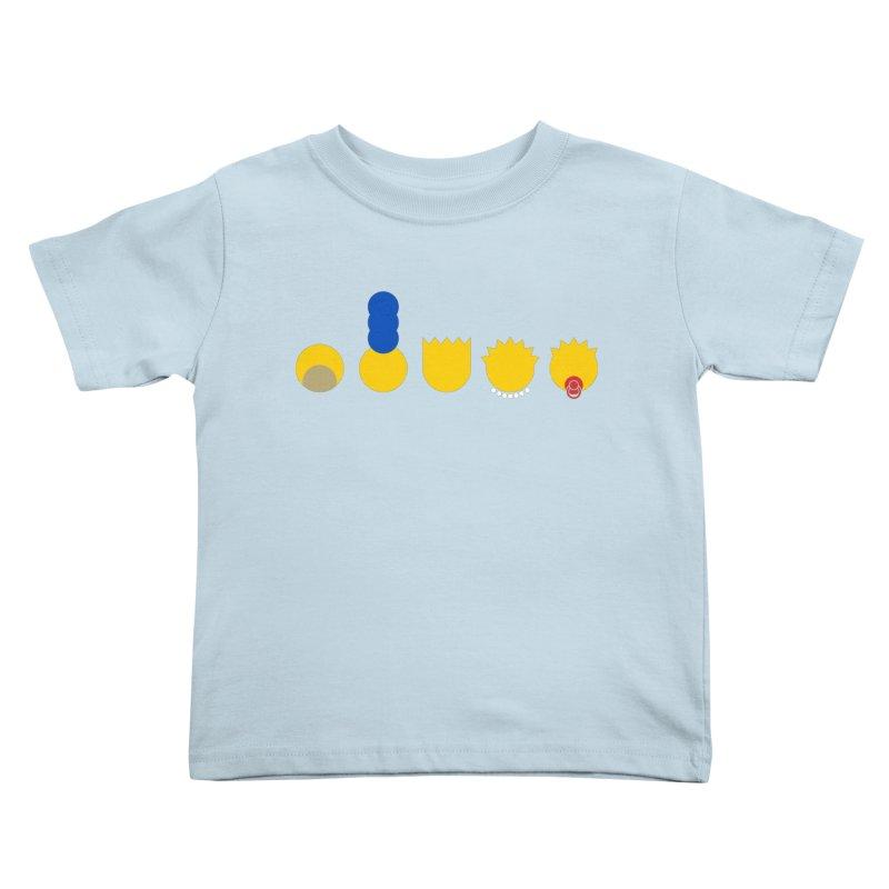 Simpsimalism Kids Toddler T-Shirt by cazking's Artist Shop