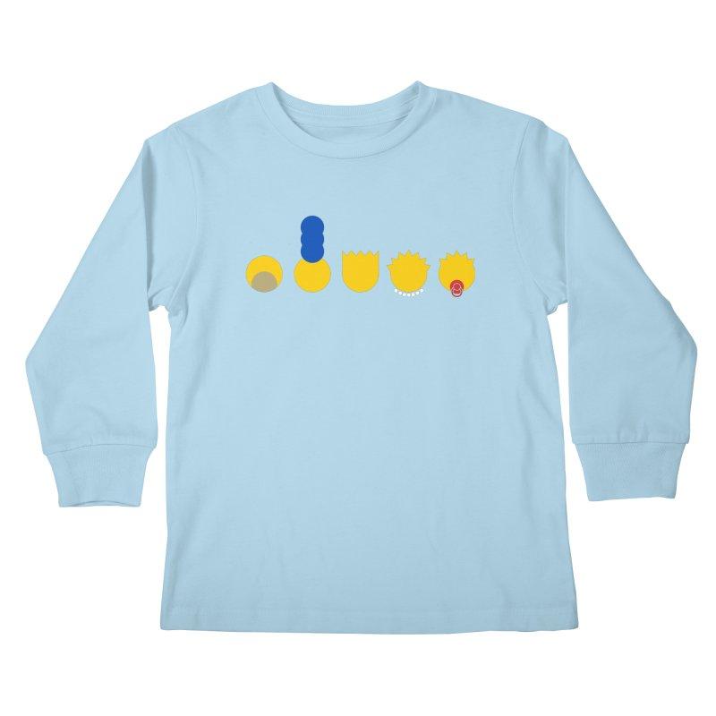 Simpsimalism Kids Longsleeve T-Shirt by cazking's Artist Shop