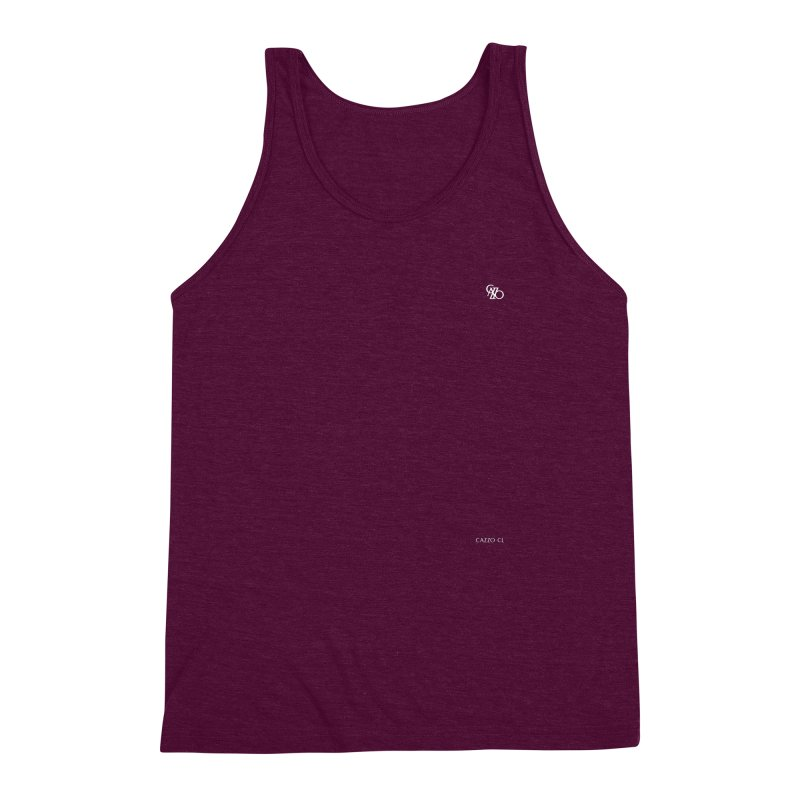 White Classic Men's Triblend Tank by Cazzo.cl