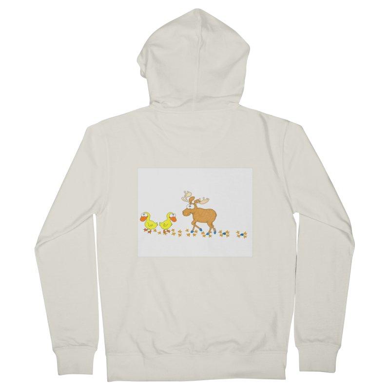 Duck, Duck, Moose   Men's Zip-Up Hoody by cbaddesigns's Artist Shop