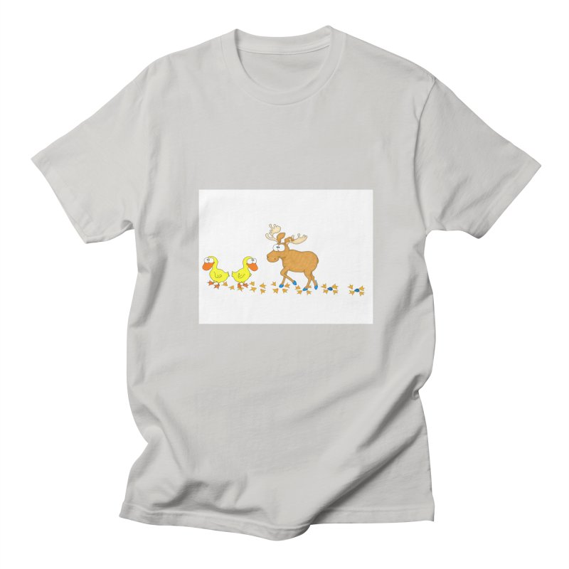 Duck, Duck, Moose   Men's T-shirt by cbaddesigns's Artist Shop