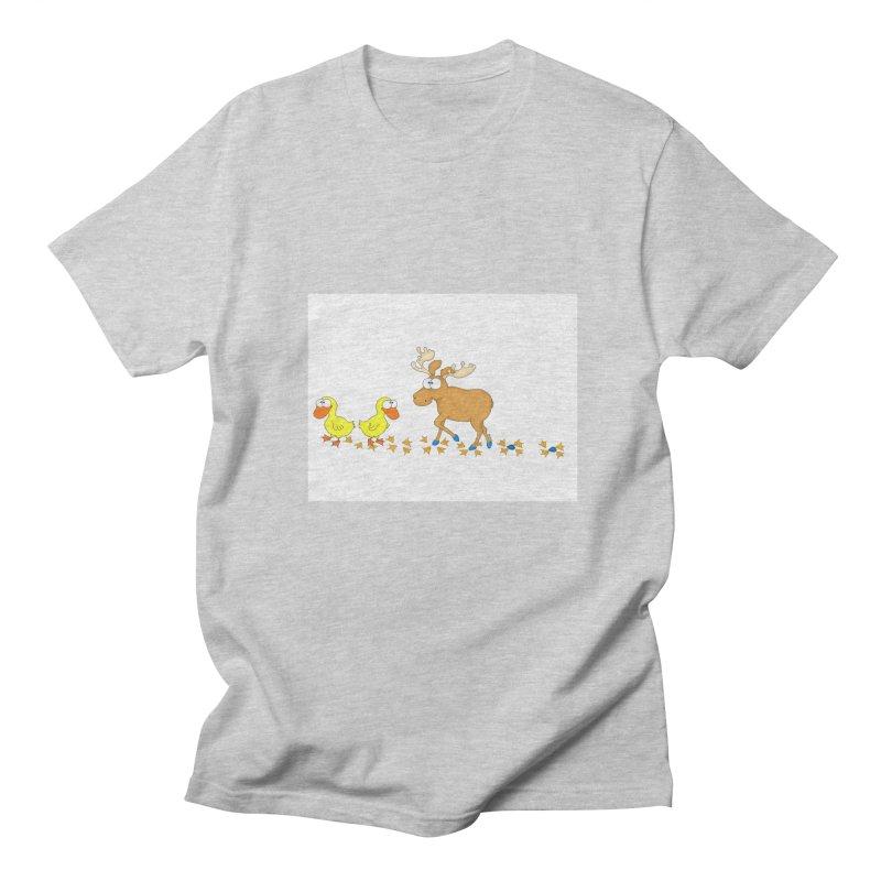 Duck, Duck, Moose   Men's T-Shirt by cbaddesigns's Artist Shop
