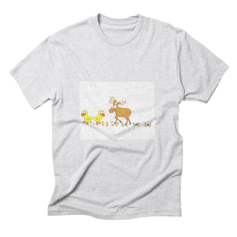 Duck, Duck, Moose   Men's Triblend T-Shirt by cbaddesigns's Artist Shop