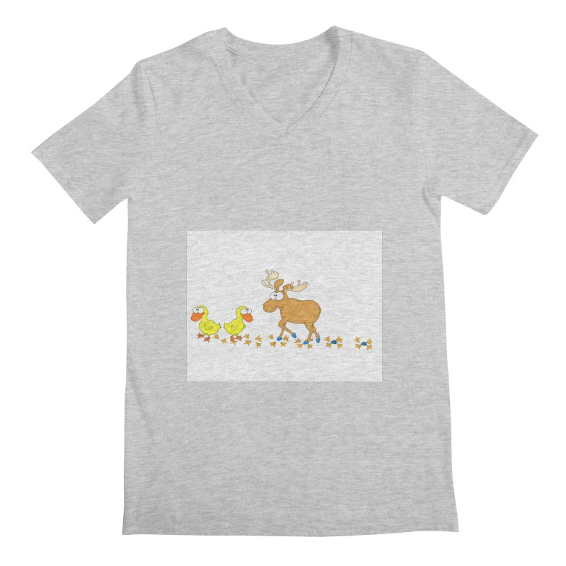 Duck, Duck, Moose   Men's V-Neck by cbaddesigns's Artist Shop