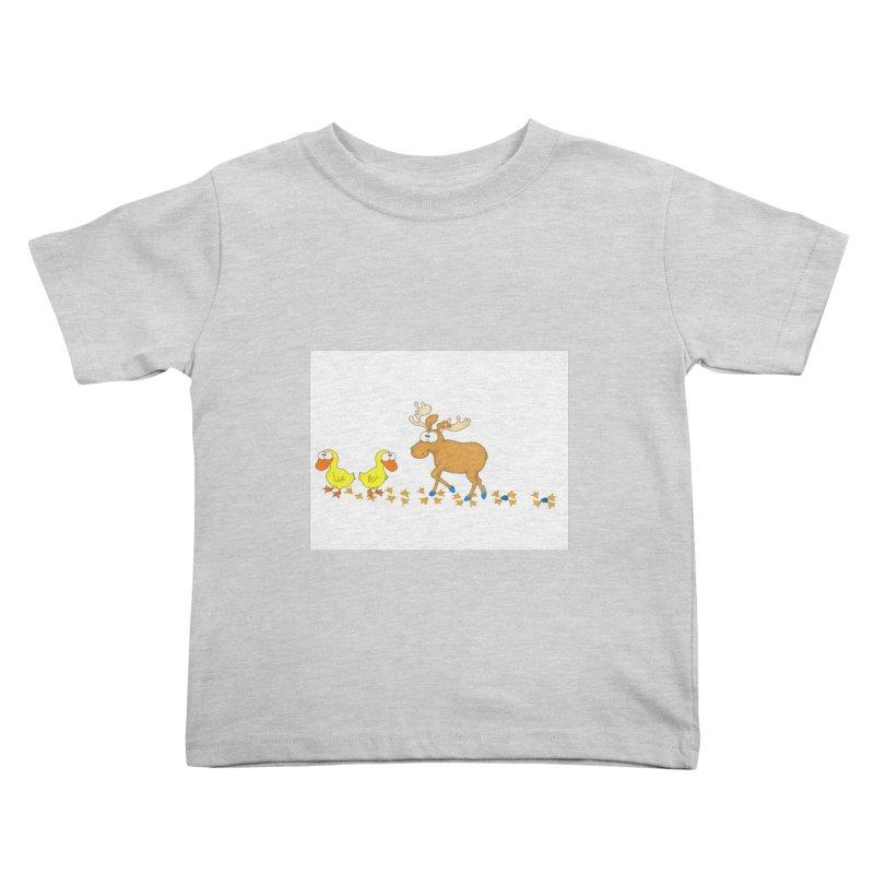 Duck, Duck, Moose   Kids Toddler T-Shirt by cbaddesigns's Artist Shop