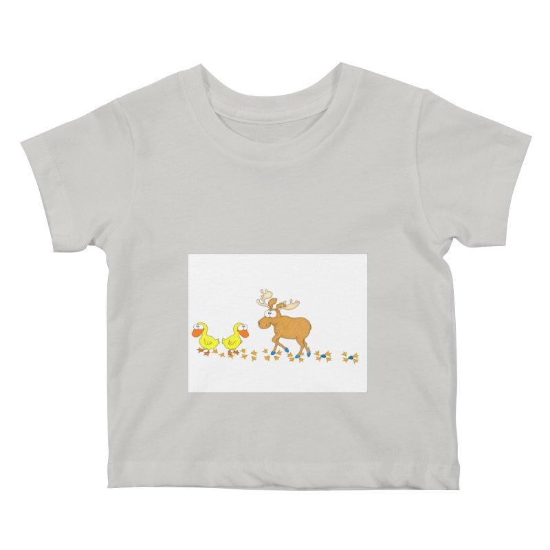 Duck, Duck, Moose   Kids Baby T-Shirt by cbaddesigns's Artist Shop