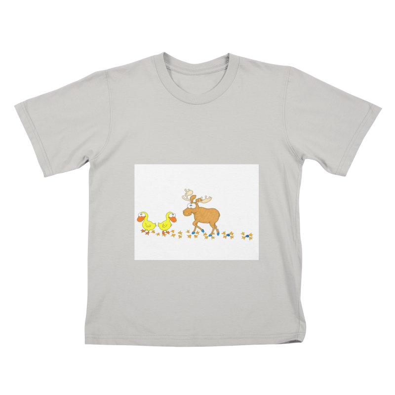 Duck, Duck, Moose   Kids T-Shirt by cbaddesigns's Artist Shop