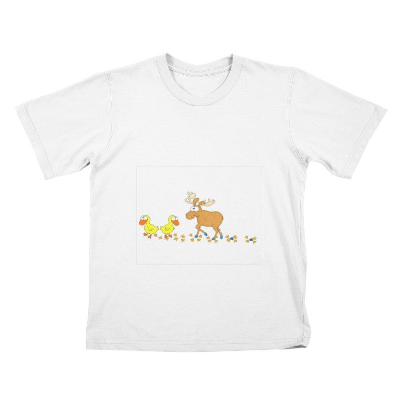 Duck, Duck, Moose   Kids T-Shirt by cbaddesigns's Artist Shop
