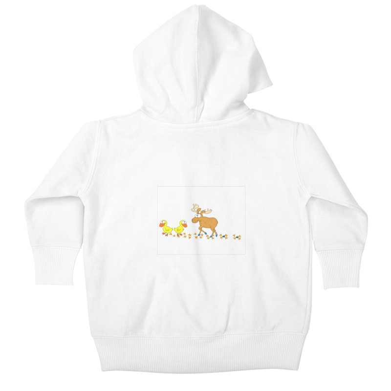 Duck, Duck, Moose   Kids Baby Zip-Up Hoody by cbaddesigns's Artist Shop