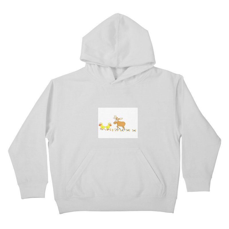 Duck, Duck, Moose   Kids Pullover Hoody by cbaddesigns's Artist Shop