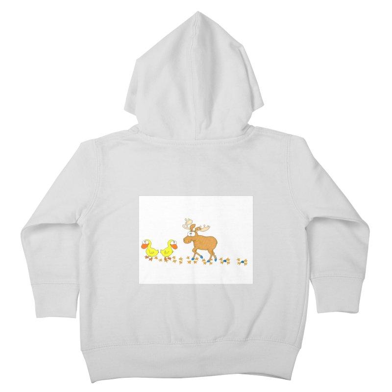 Duck, Duck, Moose   Kids Toddler Zip-Up Hoody by cbaddesigns's Artist Shop