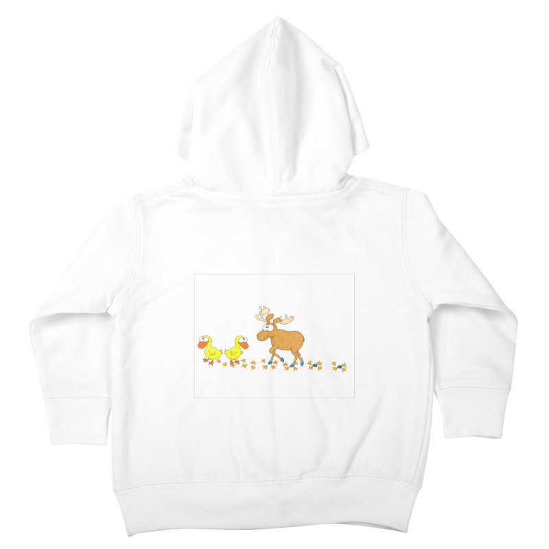 Duck, Duck, Moose   Kids Toddler Zip-Up Hoody by cbaddesigns's Artist Shop
