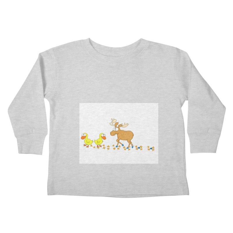 Duck, Duck, Moose   Kids Toddler Longsleeve T-Shirt by cbaddesigns's Artist Shop