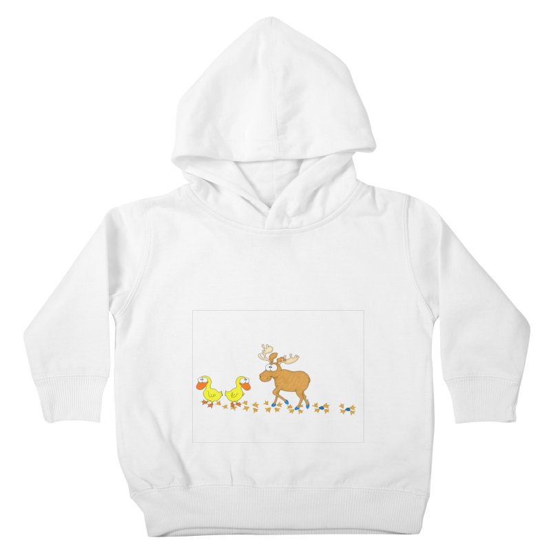 Duck, Duck, Moose   Kids Toddler Pullover Hoody by cbaddesigns's Artist Shop