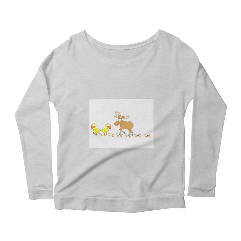 Duck, Duck, Moose   Women's Longsleeve Scoopneck  by cbaddesigns's Artist Shop