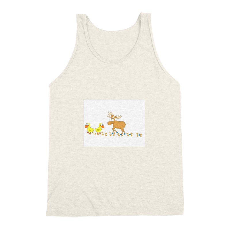 Duck, Duck, Moose   Men's Triblend Tank by cbaddesigns's Artist Shop