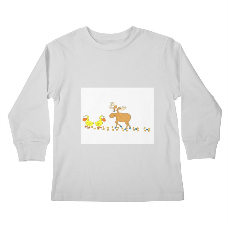 Duck, Duck, Moose   Kids Longsleeve T-Shirt by cbaddesigns's Artist Shop