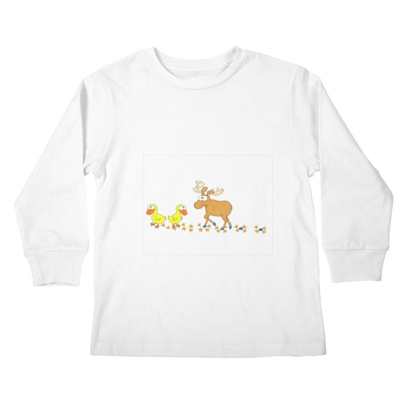 Duck, Duck, Moose   Kids Longsleeve T-Shirt by cbaddesigns's Artist Shop