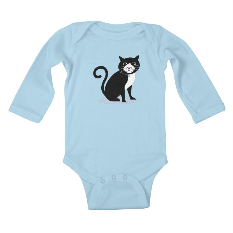 CHLOE the CAT Kids Baby Longsleeve Bodysuit by CBHstudio's Artist Shop