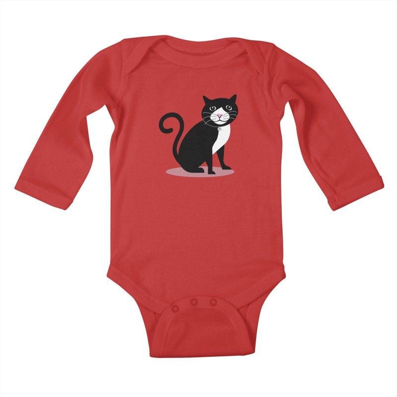 CHLOE the CAT Kids Baby Longsleeve Bodysuit by CBHstudio's Artist Shop