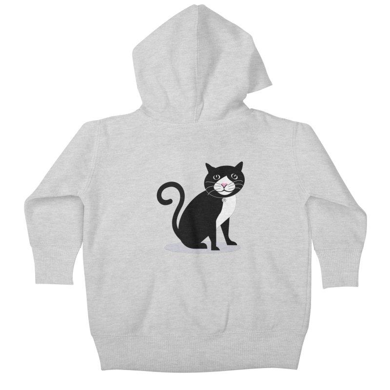 CHLOE the CAT Kids Baby Zip-Up Hoody by CBHstudio's Artist Shop