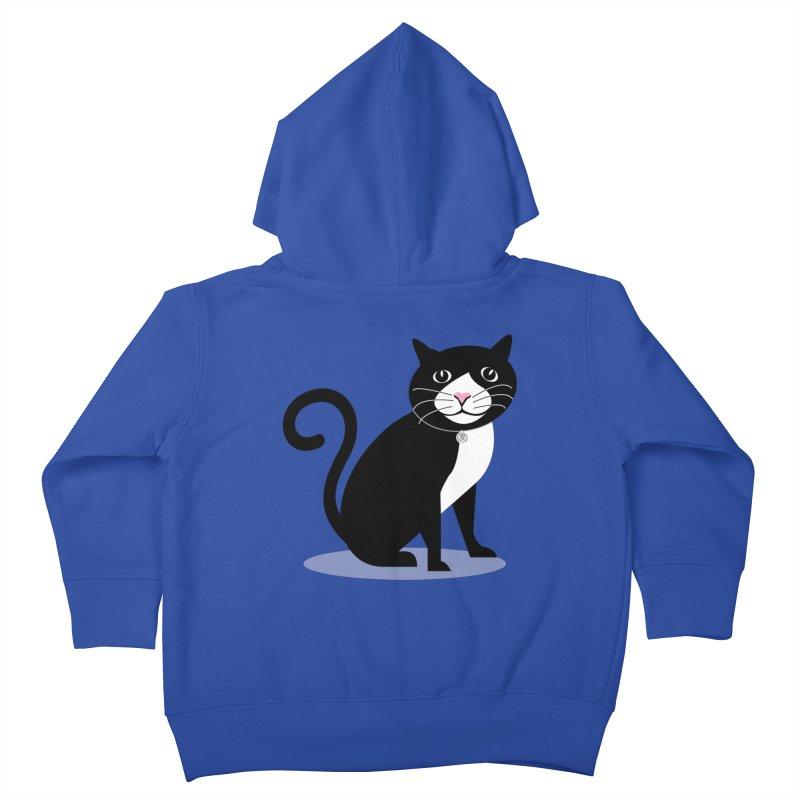 CHLOE the CAT Kids Toddler Zip-Up Hoody by CBHstudio's Artist Shop