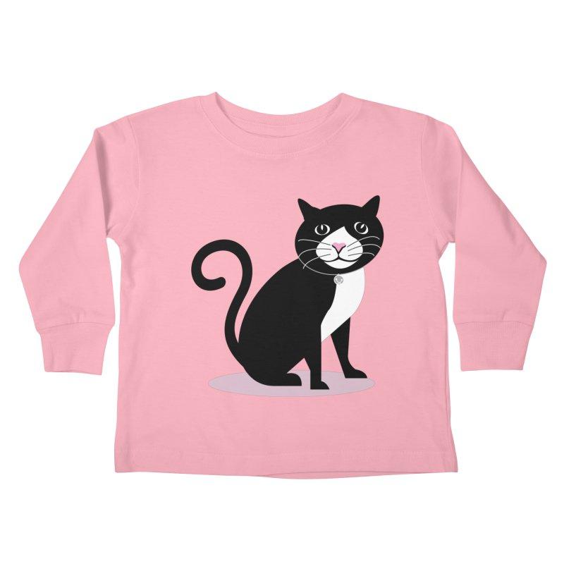 CHLOE the CAT Kids Toddler Longsleeve T-Shirt by CBHstudio's Artist Shop