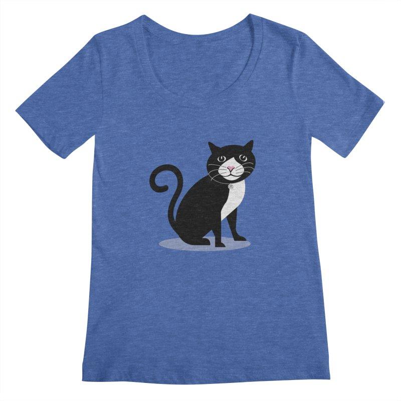 CHLOE the CAT Women's Regular Scoop Neck by CBHstudio's Artist Shop