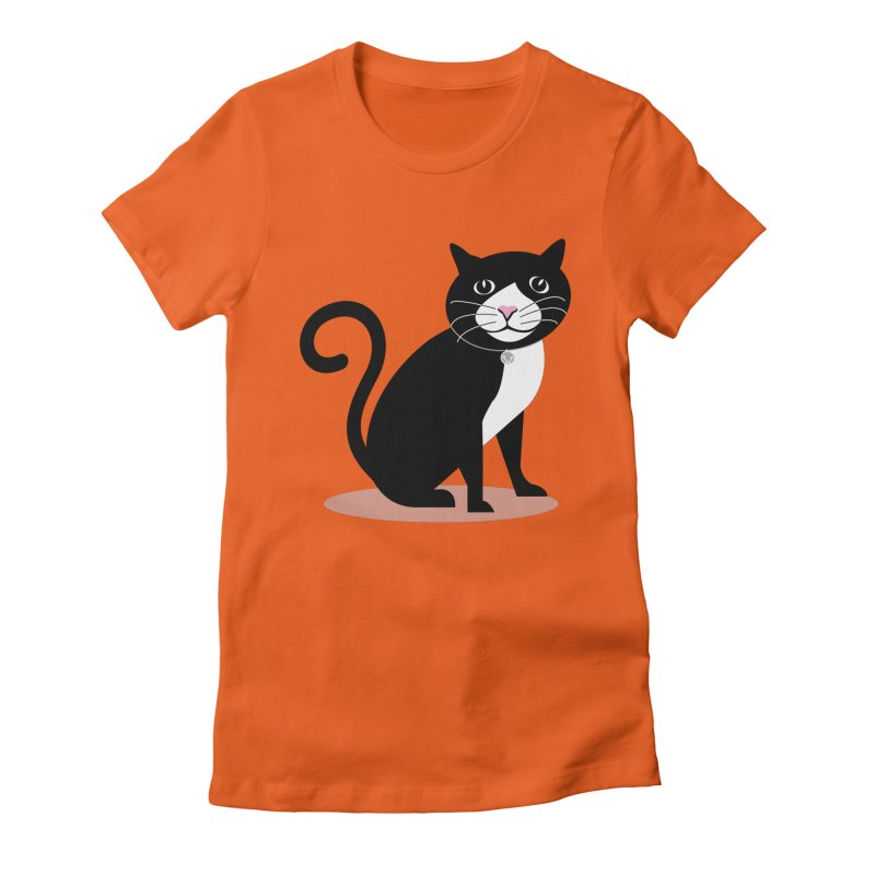 CHLOE the CAT Women's Fitted T-Shirt by CBHstudio's Artist Shop