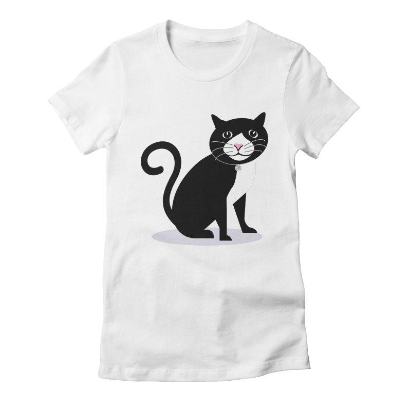 CHLOE the CAT Women's Fitted T-Shirt by CBHstudio's Artist Shop