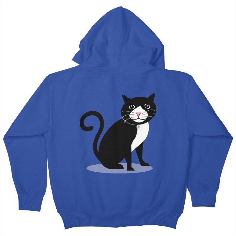 CHLOE the CAT Kids Zip-Up Hoody by CBHstudio's Artist Shop