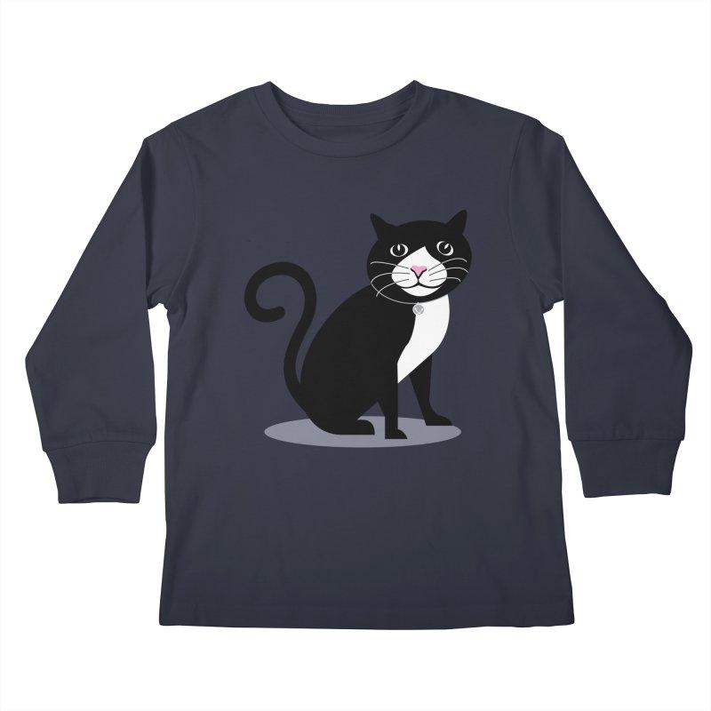CHLOE the CAT Kids Longsleeve T-Shirt by CBHstudio's Artist Shop