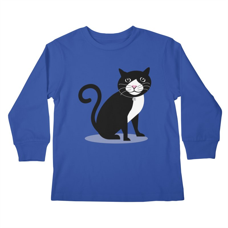 CHLOE the CAT Kids Longsleeve T-Shirt by CBHstudio's Artist Shop