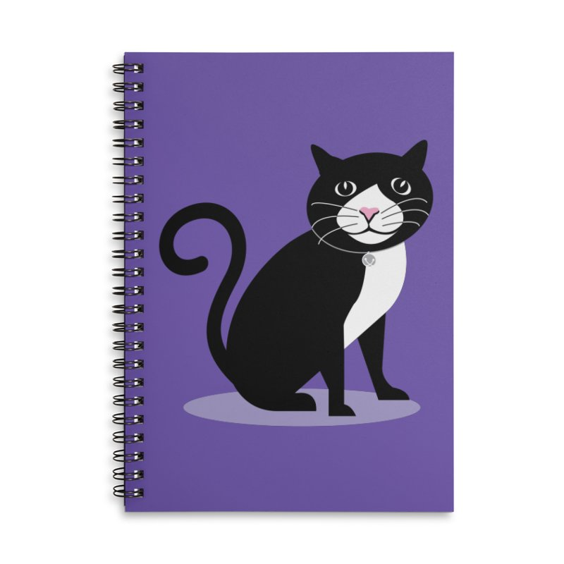 CHLOE the CAT Accessories Lined Spiral Notebook by CBHstudio's Artist Shop