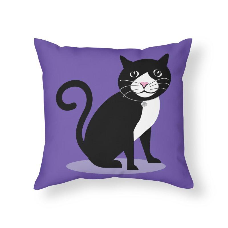 CHLOE the CAT Home Throw Pillow by CBHstudio's Artist Shop